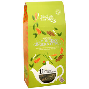 English Tea Shop Čaj Citrónová tráva, zázvor & citrusy 16 pyramidiek