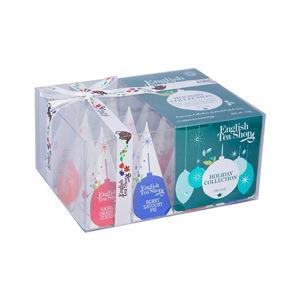 English Tea Shop Darčeková vianočné krabička Zelené ozdoby BIO 12 pyramidek