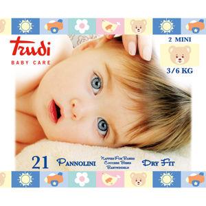 Trudi Detské plienky Dry Fit s vrstvou Perfo-Soft veľkosť Mini 3-6 kg 21 ks