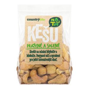 Country Life Kešu orechy pražené solené 100 g - ZĽAVA - KRÁTKA EXPIRÁCIA 3.7.2020