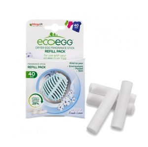 Ecoegg Náplň do vajíčka do sušičky bielizne s vôňou svieži bavlny 4 ks