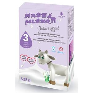 Goldim Naše mlieko 3 Batol. výživa z kozieho mlieka 12 m + 525 g