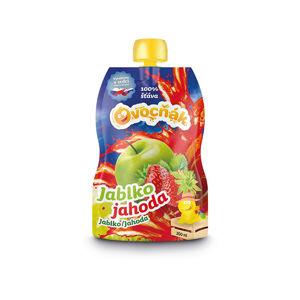 Ovocňák Ovocňák mušt jablko jahoda 200 ml -ZĽAVA - KRÁTKA EXPIRÁCIA 14.1.2021