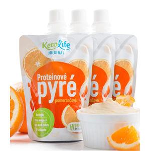 KetoLife Proteínové pyré - Pomarančové 3 ks - ZĽAVA - chýba 1 ks