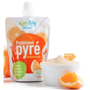 KetoLife Proteínové pyré - Pomarančové 100 g
