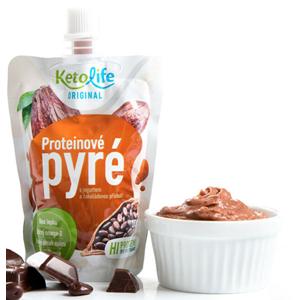 KetoLife Proteínové pyré - S jogurtom a čokoládovou príchuťou 100 g