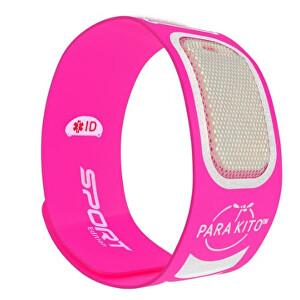 PARA`KITO Športový náramok proti komárom PARA`KITO + 2 náplne Růžový
