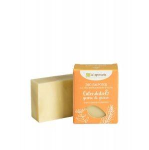laSaponaria Tuhé olivové mydlo BIO 100 g Měsíček a pšeničné klíčky
