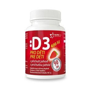 Nutricius Vitamín D3 pre deti 400IU - jahoda 90 tabliet