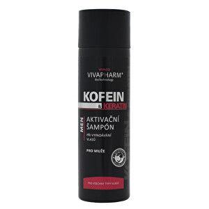 Vivapharm Kofeín a keratín Aktivačné šampón pre mužov 200 ml